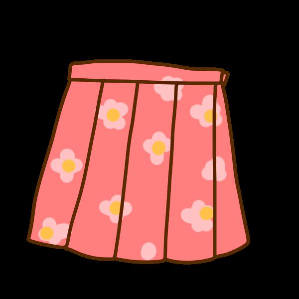 スカートのイラスト かわいいフリー素材が無料のイラストレイン