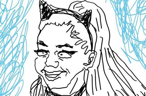 identify  celebrity    bad drawing