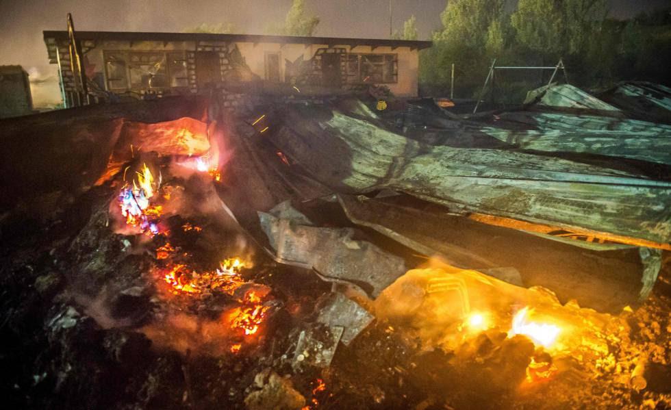 Imagen de la destrucción causada por el fuego.