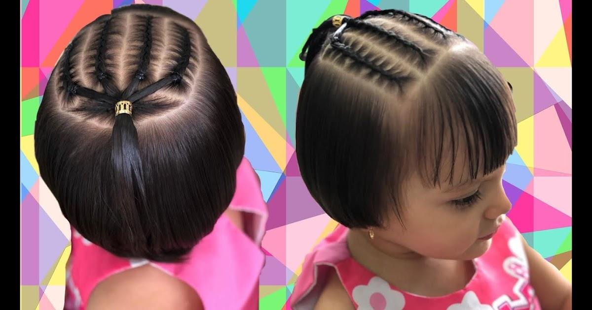 Elegante peinados bebe niño Imagen de tutoriales de color de pelo - Faciles Peinados Para Bebes Niñas Con Pelo Corto ...
