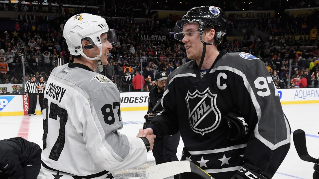 Sidney Crosby et Connor McDavid