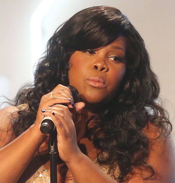Amber Riley Actress Amber Riley performs during Big Brother Big Sister Of Greater Los Angeles 2012 Rising Stars Gala at The Beverly Hilton Hotel on October 26, 2012 in Beverly Hills, California.
