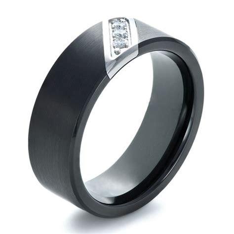 Men's Tungsten and Diamond Ring #1364   Seattle Bellevue