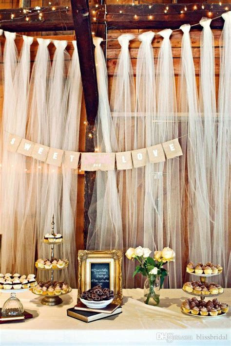 Beach Wedding Decorations Tulle Fabric Wedding Supplies