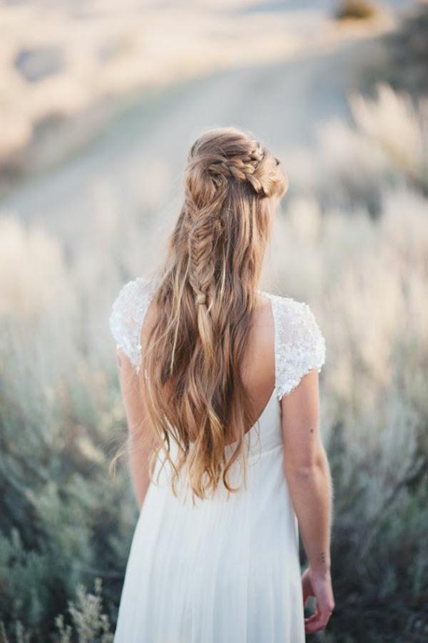Brautfrisur Langes Haar Offen Steckfrisuren