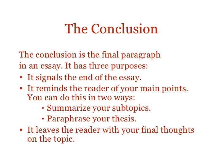 How to write an effective conclusion to an essay