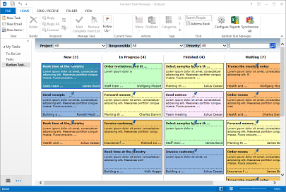 Kanban Task Manager in Outlook
