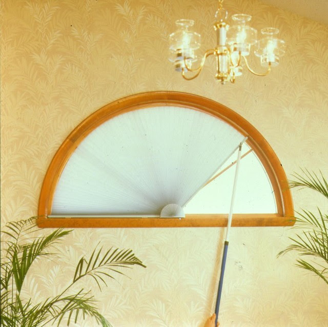 Half round window covering - Arch window - Traditional ...