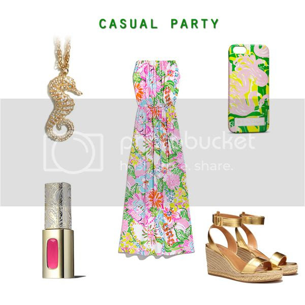 Lilly for Target lookbook preview, Lilly Pulitzer for Target shift dress casual party outfit idea