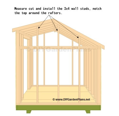10 X 10 Saltbox Shed Plans Outside Storage Shed