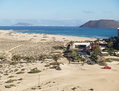 View to Los Lobos and Lanzarote