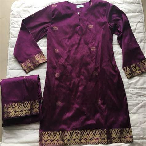 traditional baju kurung songket bunga tabur manggis size