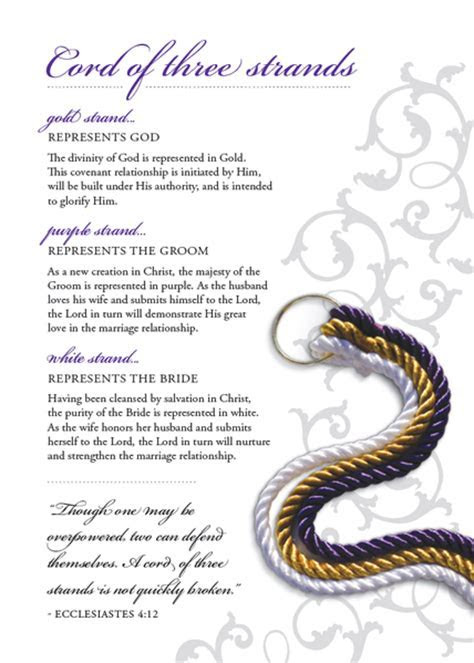Cord of Three Strands Explanation Cards   Pack of 20 ? God