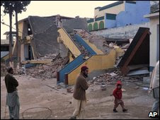 School in Swat allegedly destroyed by the Taleban