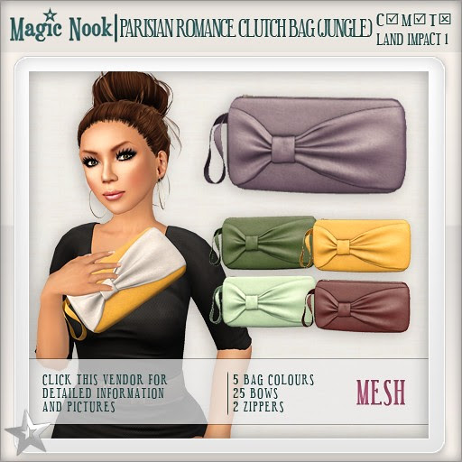 [MAGIC NOOK] Parisian Romance Clutch Bag MESH (Jungle)