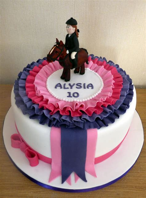 Show Jumping Pony Rosette Themed Birthday Cake « Susie's Cakes