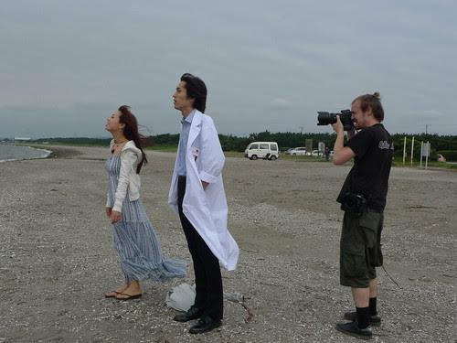 [The White Flower] Niklas the cinematographer with main actors Zhu Dan and Toro Inamura