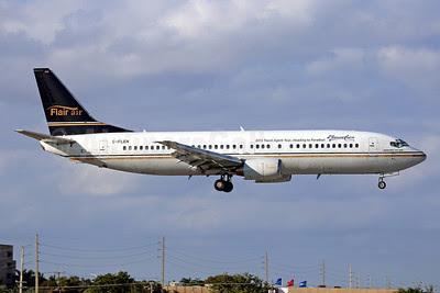 Flair Air Boeing 737-4K5 C-FLEN (msn 24769) (Beaches - 2013 Travel Agent Tour... Heading to Paradise!) MIA (Javier Rodriguez). Image: 921283.