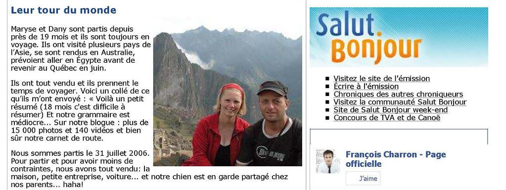 tour du monde - FrancoisCharron
