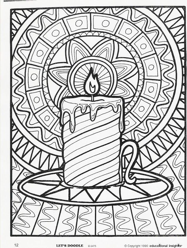 Difficult Christmas Coloring Pages at GetColorings.com ...