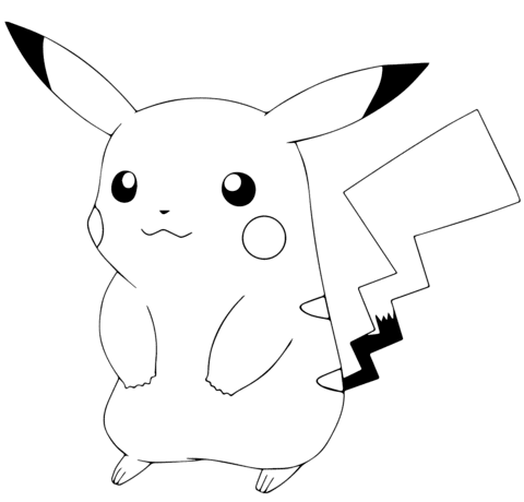 420 Top Coloring Pages Pikachu Images & Pictures In HD