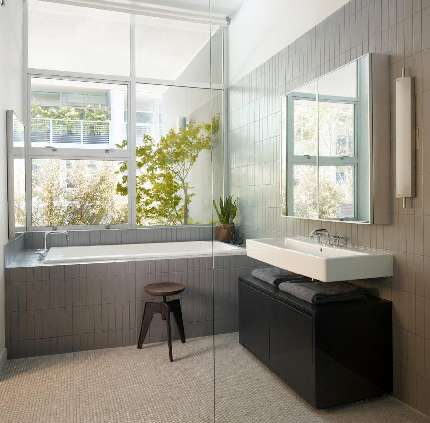 modern bathroom grey   Interior Design Ideas.