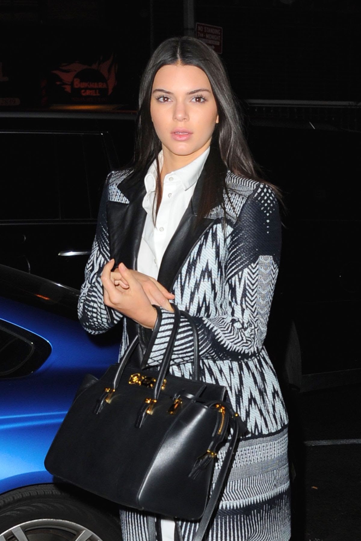 KENDALL JENNER Arrives at Red Stixs Restaurant in New York