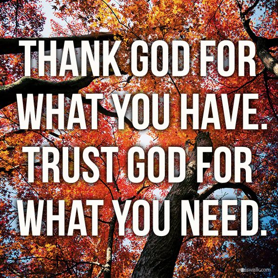 Thank God For What You Have Your Daily Verse