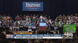 Bernie Sanders in Phoenix, tells it like it is! We have no economic future, but unfortunately for Sanders, socialism is not the answer.