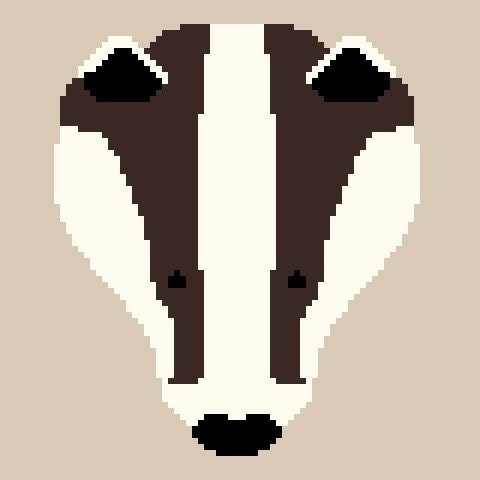 Badger PDF Cross Stitch Pattern