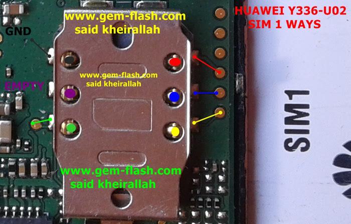 Huawei Y336-U02 Insert Sim Card Problem Solution Jumper Ways