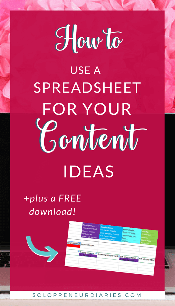 How To Use A Spreadsheet To Organize Your Content Ideas