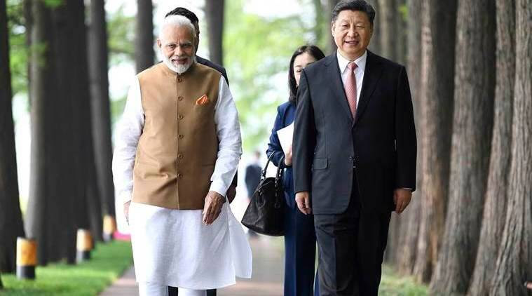 Prime Minister Narendra Modi with Chinese President Xi Jinping in Wuhan in April. (AP)