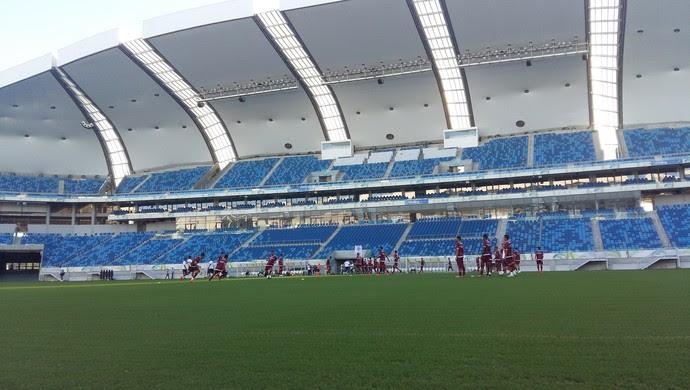 Treino do América-RN Arena das Dunas (Foto: Jocaff Souza/GloboEsporte.com)