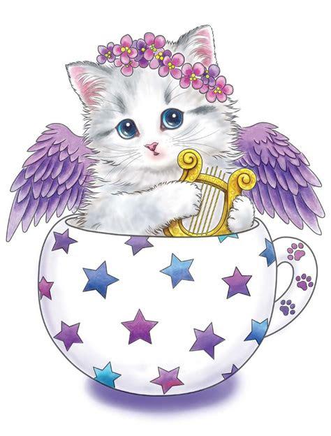 teacup kittens coloring book design originals