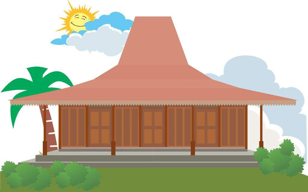 Rumah Joglo Jawa Tengah Animasi Rumah Joglo Limasan Work