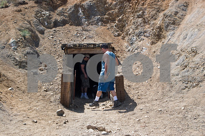 Entering the Burro Schmidt tunnel