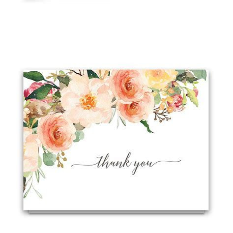 Wedding Thank You cards for Rustic Wedding Thank you Notes
