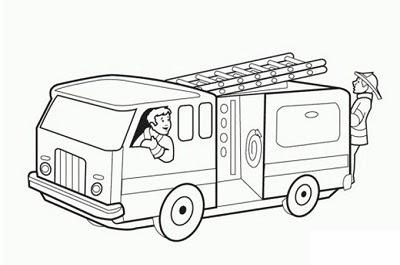 سيارة اطفاء الدفاع المدني رسومات Asyalafi Blogspot Com