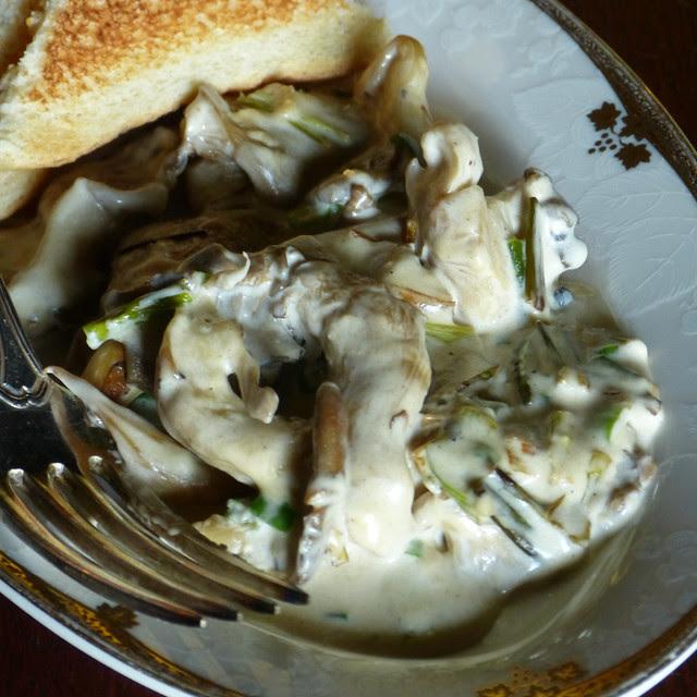Creamed Oyster Mushrooms