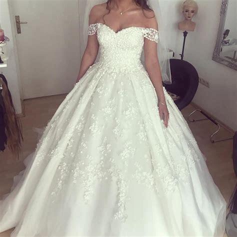 Off The Shoulder Princess Wedding Dress Ball Gowns 2018