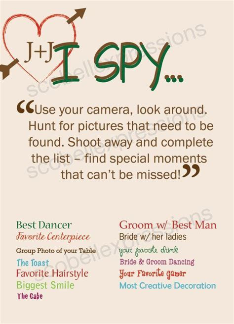 LOve This! I Spy Wedding Game Card by ScobellExpressions