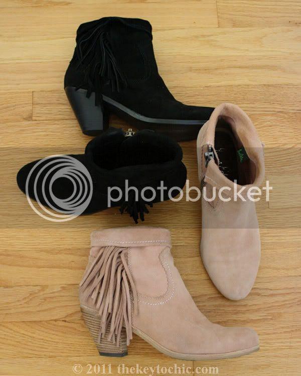 Sam Edelman Louie boots, suede fringe ankle boots