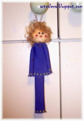 Boneca Azul guadanapo de pano