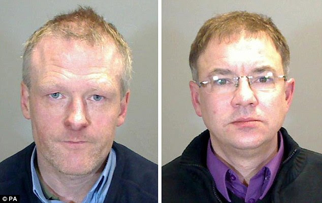 Michael Rogers, 53, (pictured left) was found guilty of 14 counts including cruelty, rape and inciting a child to engage in sexual activity. Jason Adams, 43, (right) was found guilty of 13 similar counts
