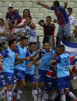 Fortaleza x Ceará Campeonato Cearense Arena Castelão comemoração (Foto: Thiago Gadelha/Agência Diário)