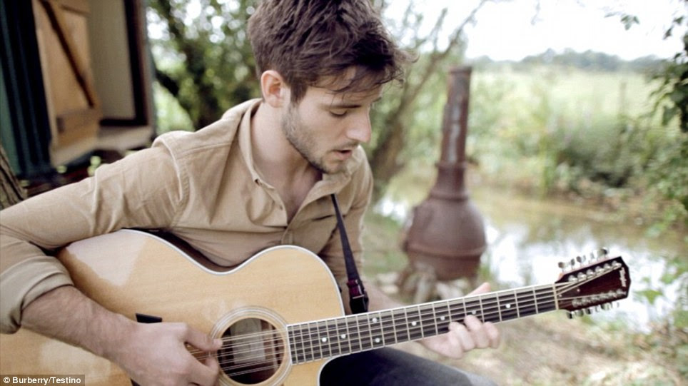 Multi-talented: Panes is also a singer-songwriter and his music has been used on previous videos for the Burberry campaign