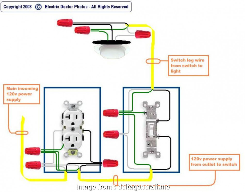 View 25   Wiring Diagram Light Switch And Receptacle
