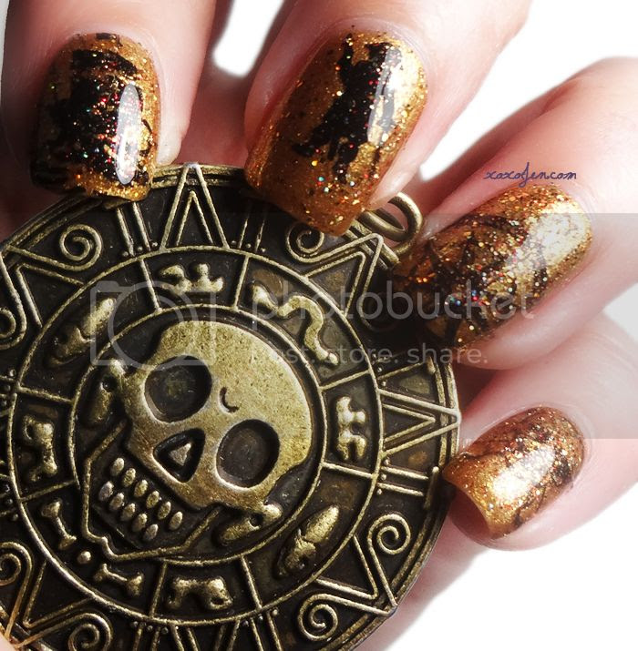 xoxoJen's swatch of VL023 Stamping Nail art and Disney Duo