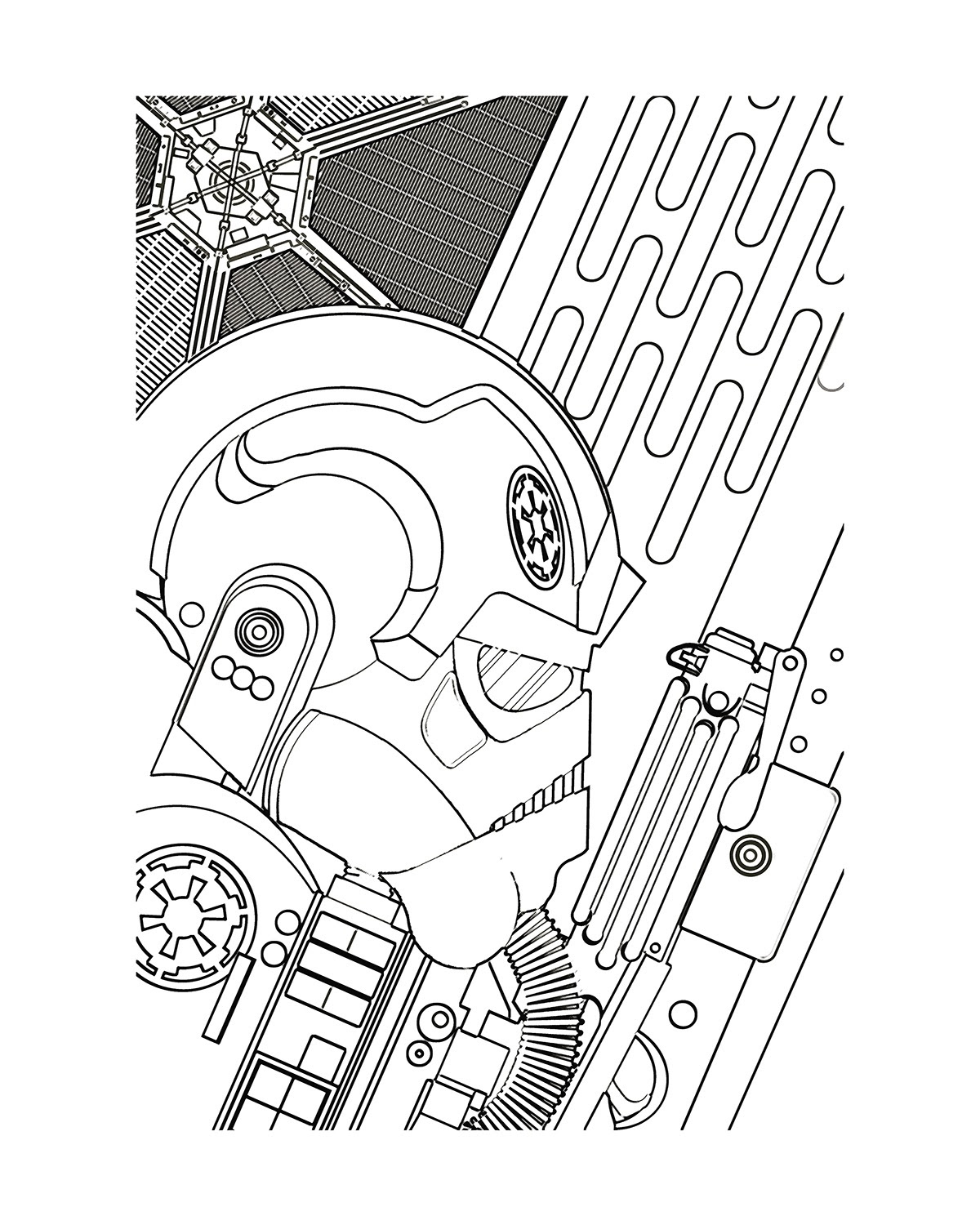 Star Wars Tie Fighter Drawing at GetDrawings | Free download